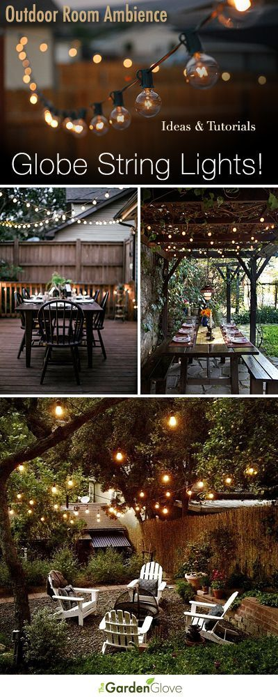 Outdoor Room Ambience: Globe String Lights! • Lighting is the most important thing anywhere in/around the home.
