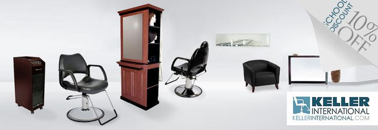 Beauty School Equipment and Supplies! 10% all school orders! Visit us at Keller International for all your beauty school, barber school, esthetician school, massage therapy school, nail technician supplies! #salonfurniture #barberchairs #beautyschool #4salon #kellerinternational