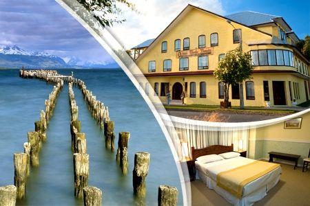 Paga desde $73900 por 2 noches para dos + desayuno en Hotel Charles Darwin, Puerto Natales. Elige temporada