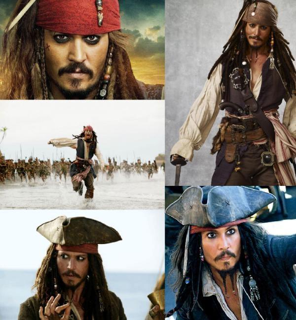 El camaleónico Jack Sparrow en las diferentes películas de 'Piratas del Caribe' //  Collage de @Diana Avery GP