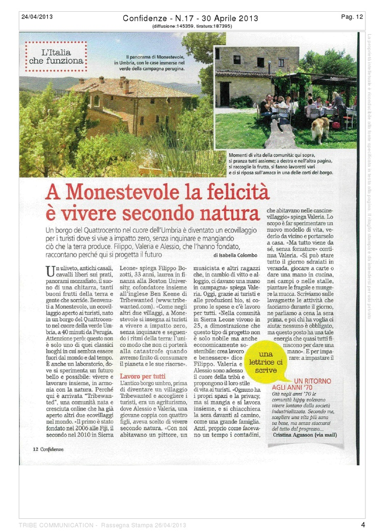 Tribewanted Monestevole showcase in Confidenze, Italia