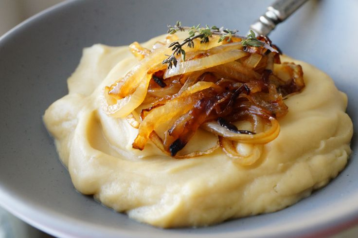 Lard-Whipped Parsnips with Caramelized Onions [Paleo/AIP/Whole30]