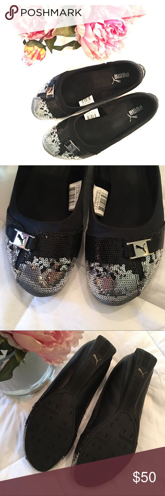 Puma Sequins Ballerina Flats size 8.5 NWOT Sequins toe-cap Puma ballerinas in excellent condition. They're a size 8.5 and are barely used. I love the glitz they add to a simple t-shirt and jeans outfit! 💗✨💗✨ Happy Poshing ! Puma Shoes Flats & Loafers