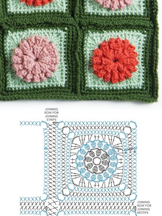 Flower granny square diagram
