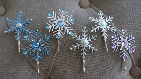 Elsa Frozen Inspired Snowflake Hair Clips By