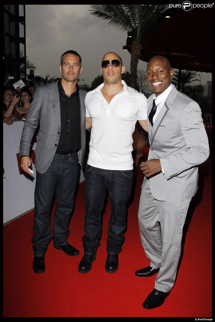"VIN DIESEL, TYRESE GIBSON, PAUL WALKER - PREMIERE DU FILM ""FAST AND FURIOUS 5"" A MARSEILLE ""FAST AND FURIOUS 5""  28/04/2011"
