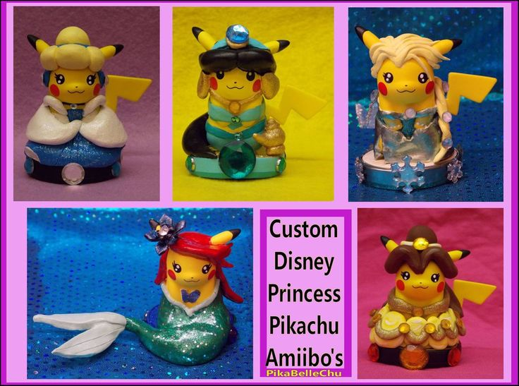 DeviantArt: More Like Custom Disney Princess Pikachu Amiibo's by ...