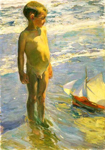 Joaquín Sorolla Bastida (1863-1923). El niño de la barquita. 1904. Museo…