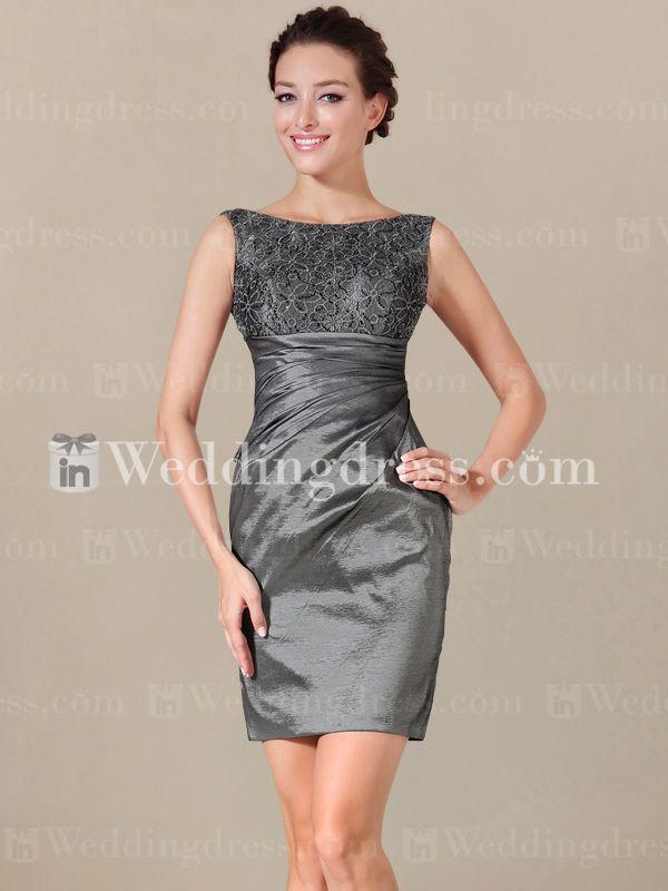 Sleeveless Short Mother of the Bride Dress. Re-pin if you like. Via Inweddingdress.com #motherofthebride #dress