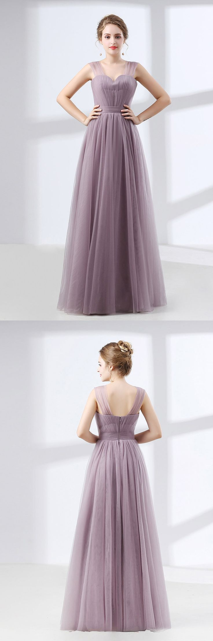 Only $99, Homecoming Dresses Cheap Tulle Long Homecoming Dress Dusty Lavender Under $100 #CH6632 at #GemGrace. View more special Special Occasion Dresses,Prom Dresses,Homecoming Dresses now? GemGrace is a solution for those who want to buy delicate gowns with affordable prices, a solution for those who have unique ideas about their gowns. 2018 new arrivals, shop now to get $10 off!