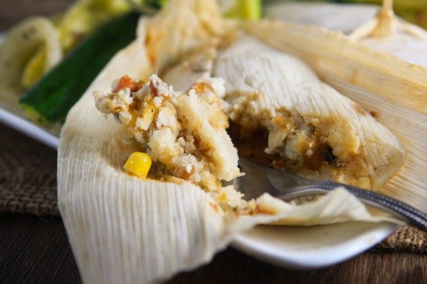 I am in no way vegan or even vegetarian, but these vegan tamales sound so good, and cheap and simple.