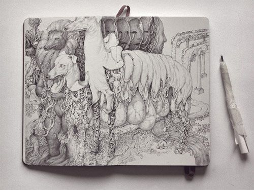 drawings by anton vill