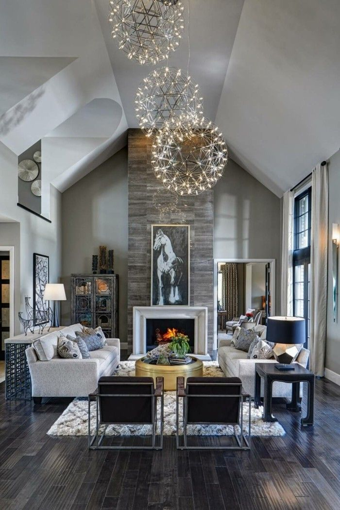 originelle wohnideen fur wohnzimmer kamin. Black Bedroom Furniture Sets. Home Design Ideas