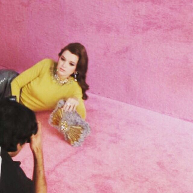 A Sneak Peak Behind-The-Scenes pic of our #AW15 shoot against a ginormous Pink Backdrop. Yes we love PinkAre you guys excited to see our gorgeous final shots?  #Mawi #MawiRocks