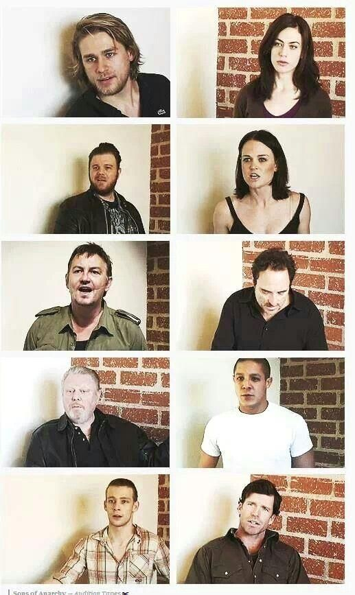 Look at them all... This was all when they were auditioning…