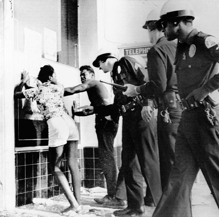 The Watts Riots (or Watts Rebellion)[1] was a race riot that took place in the Watts neighborhood of Los Angeles from August 11 to 17, 1965. The six-day unrest resulted in 34 deaths, 1,032 injuries, 3,438 arrests, and over $40 million in property damage. It was the most severe riot in the city's history until the Los Angeles riots of 1992.