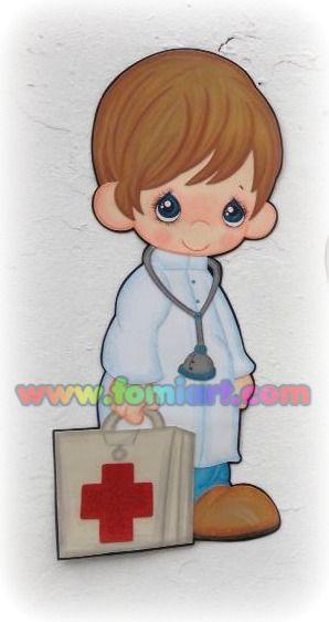 http://manualidadesamigas.foroargentina.net/DOCTOR de PRECIOUS MOMENTS de Fomiart - Goma eva - Moldes