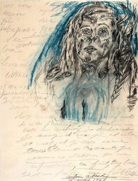 Antonin Artaud. Portrait De Jany de Ruy 1947