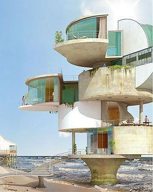 Artist Envisions Futuristic Fort-Like Homes Designed To Withstand Hurricanes More