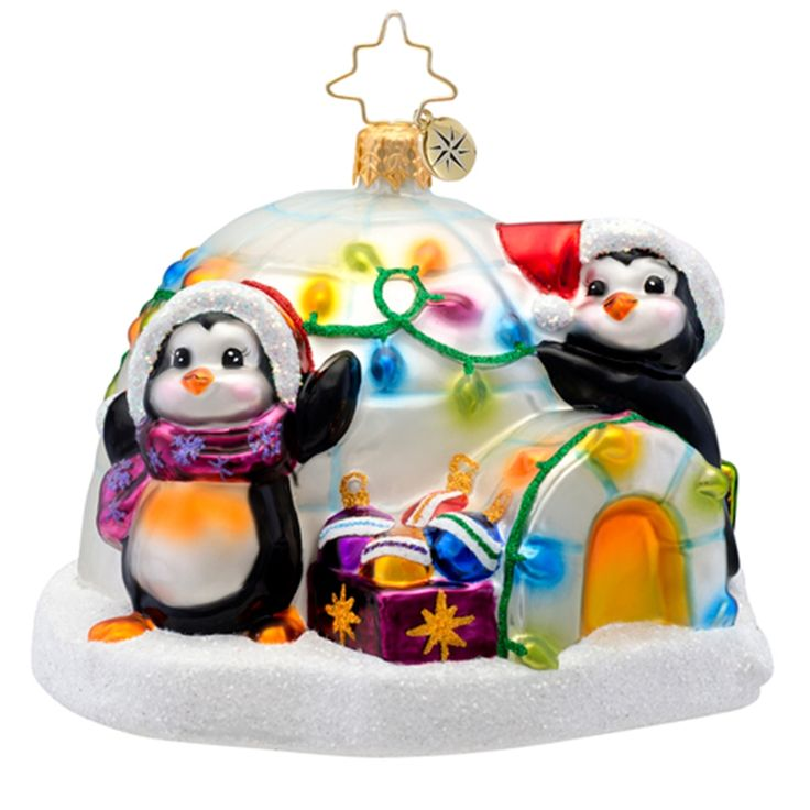 Christopher Radko Ornaments 2015 | Radko Animal Ornament Penguin Prep