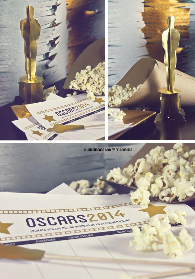 imprimible oscars + estatuilla en 3D, en castellano, de Chocoas