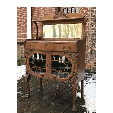 Antique Late Victorian Quartersawn Oak Sideboard #https://www.pinterest.com/munlimited/ #countryliving #shabbychic #materialsunlimited