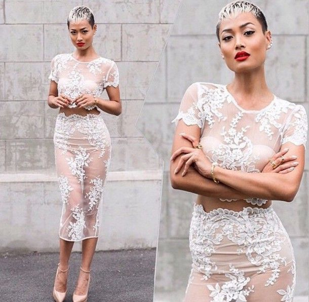 Image result for how to wear a see thru dress