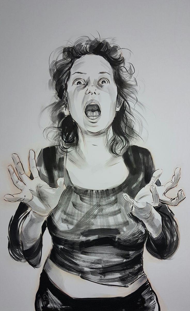 """Scream"" Ink by Maria Tomczak"