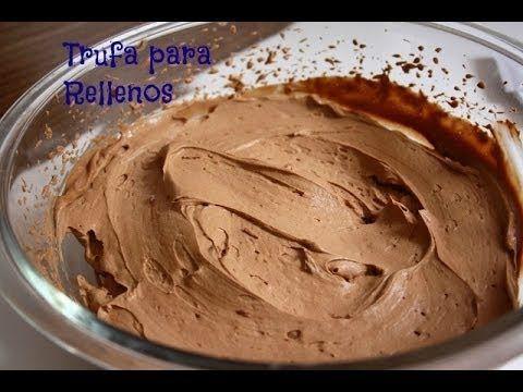 Super fácil esta receta de esta trufa para rellenos de tortas!!! Crema, azúcar y chocolate!! nada mas!! ME ENCANTO!! =)