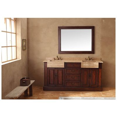 """SALE! Best Deal - James Martin Classico Collection Solid Wood 72"""" Double antique bathroom vanity with a Countertop in Cherry 206-001-5525"""