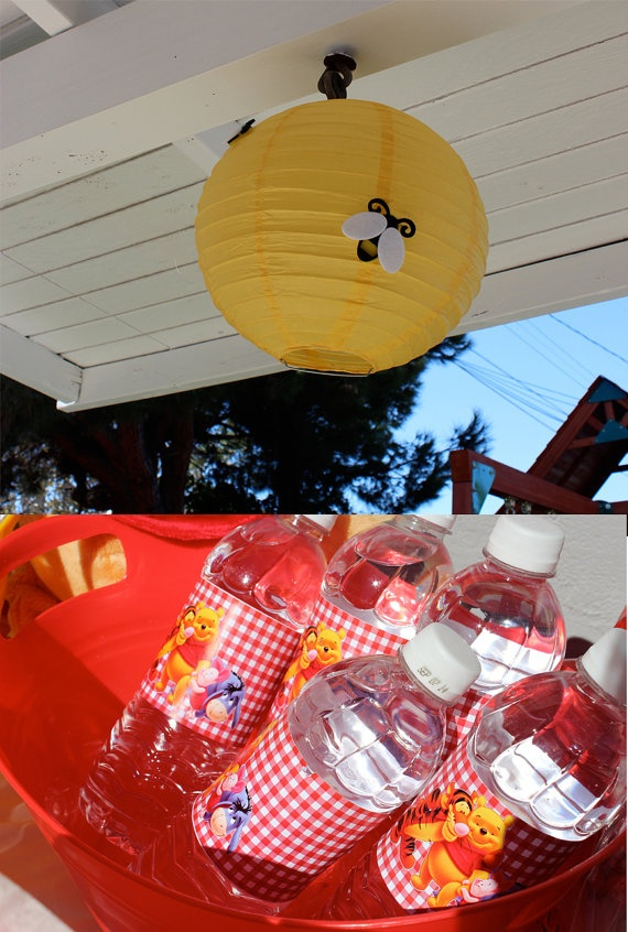 Winnie the Pooh Birthday Party Pack by TheCraftyGodMother on Etsy, $125.00