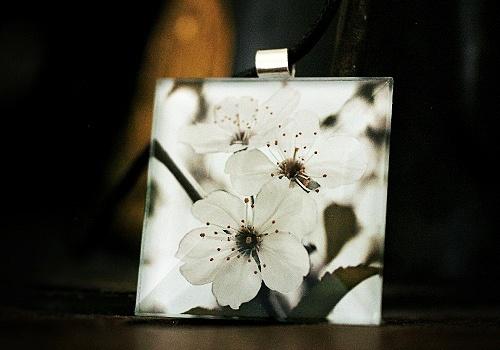 Prunus necklace. Handmade by Pako korut.