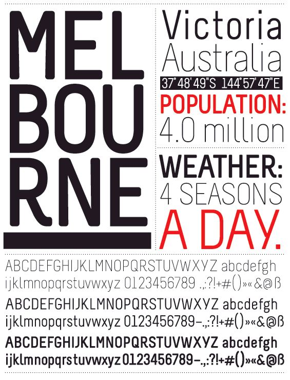 Melbourne http://26plus-zeichen.de/fonts/melbourne/