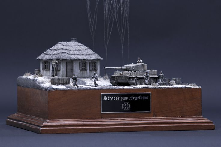 Winter Tiger Eastern Front Diorama 1/72 sacle