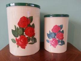 Set van 2 Tomado blikken met rozen