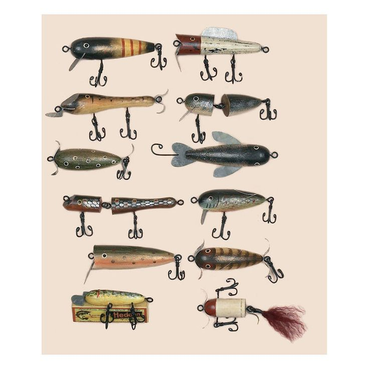 Antique Fishing Lure Christmas Ornaments