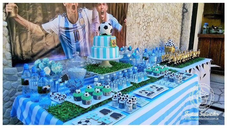 Cumpleaños con la temática de futbol | Fútbol | Pinterest ...