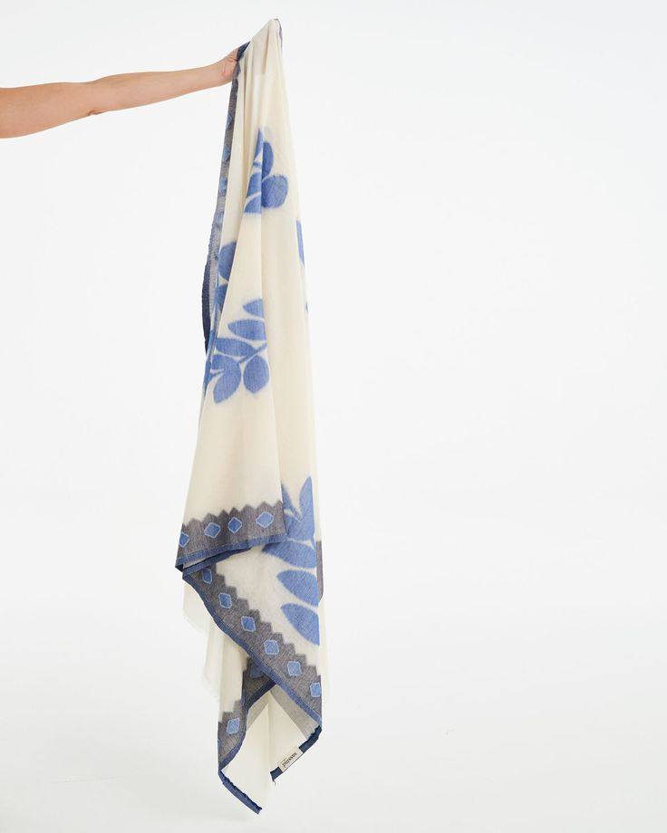 100% woven cotton shawl