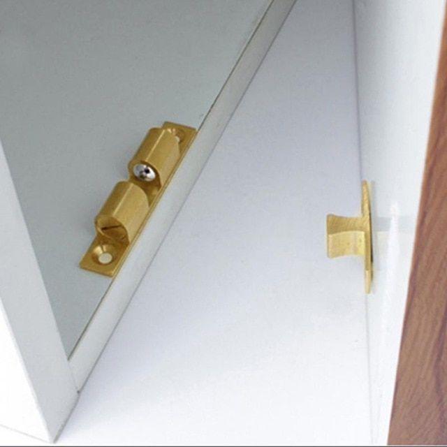Adjustable Brass Door Lock Latch Interlock Switch Chassis Furniture Cabinets Door Spring Ball Locker Spring Hinge Close Brass Door Door Locks Cabinet Furniture