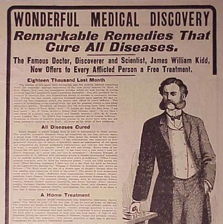 """an examination of quack cures You can do it at home with these 6 over-the-counter secrets  my last complete examination,  and conventional medicine called him a """"quack."""