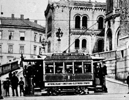 Electric tramway - Oslo, Norway 1890s