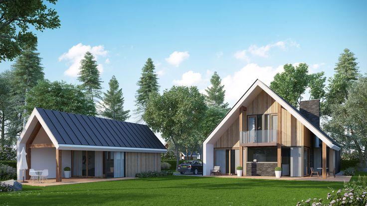 Een schuurwoning kenmerkt zich door zijn simpele vorm. De spant constructies vormen de basis van de woning. Benieuwd naar Bongers Architecten?