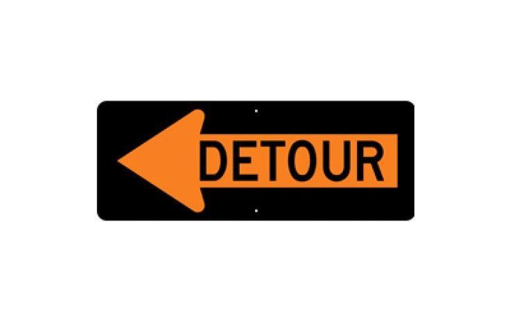 Detour Left Arrow