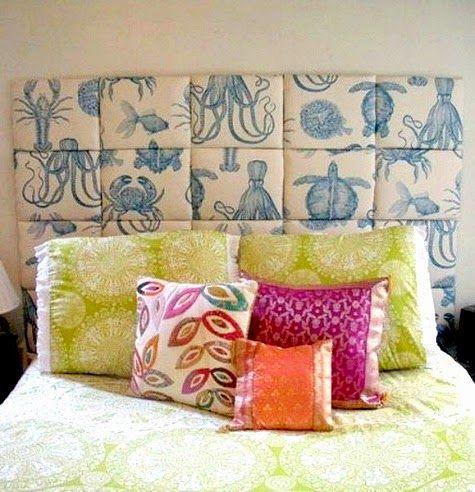 DIY Coastal Fabric Headboard Ideas: Http://www.completely Coastal. Diy Home  CraftsBeach ...