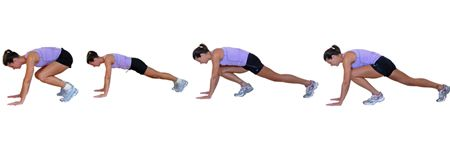Add Intensity and Variety to with 6 Great Ideas for Burpees: Burpees with Mountain Climbers