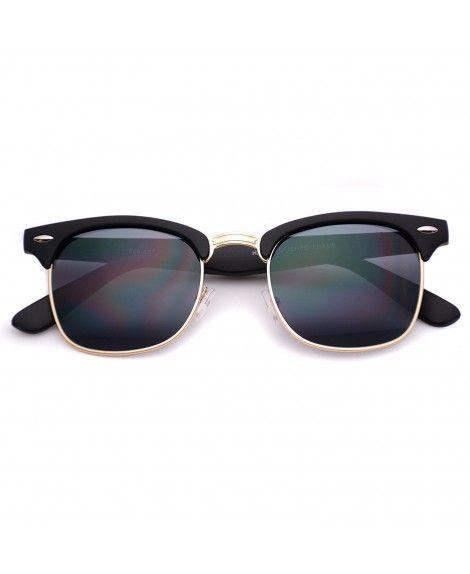 9373faa1e40 Retro Dark Lens Half Frame Vintage Sunglasses  sunmmeroutfit  semi-rimless   sunglasses  designersunglasses