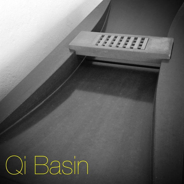 Qi Basin. Concrete Sink, concrete basin.