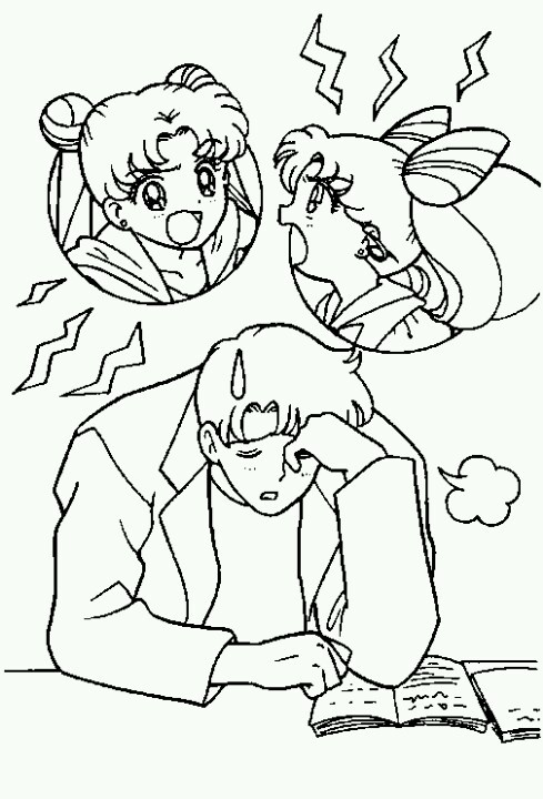 chibi moon coloring pages - photo#34