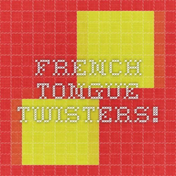 17 meilleures id233es 224 propos de tongue twisters sur