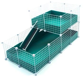 Large (2x4 Grids) / WIDE Loft - Deluxe Cages - C Cages for Guinea Pigs